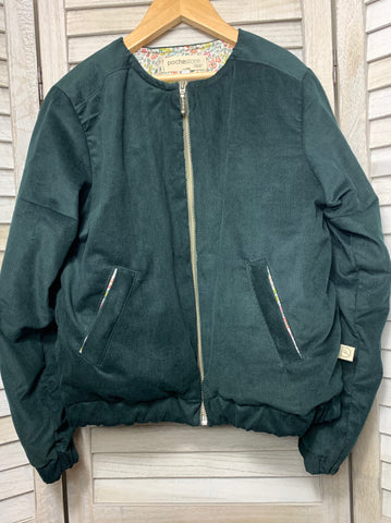 Betsy Bomber Jacket ~ Forest Green