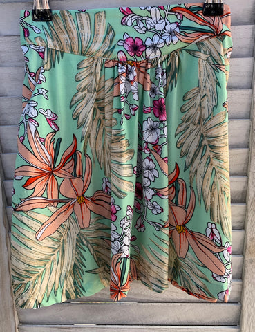 Florence Skirt - Mint Tropical