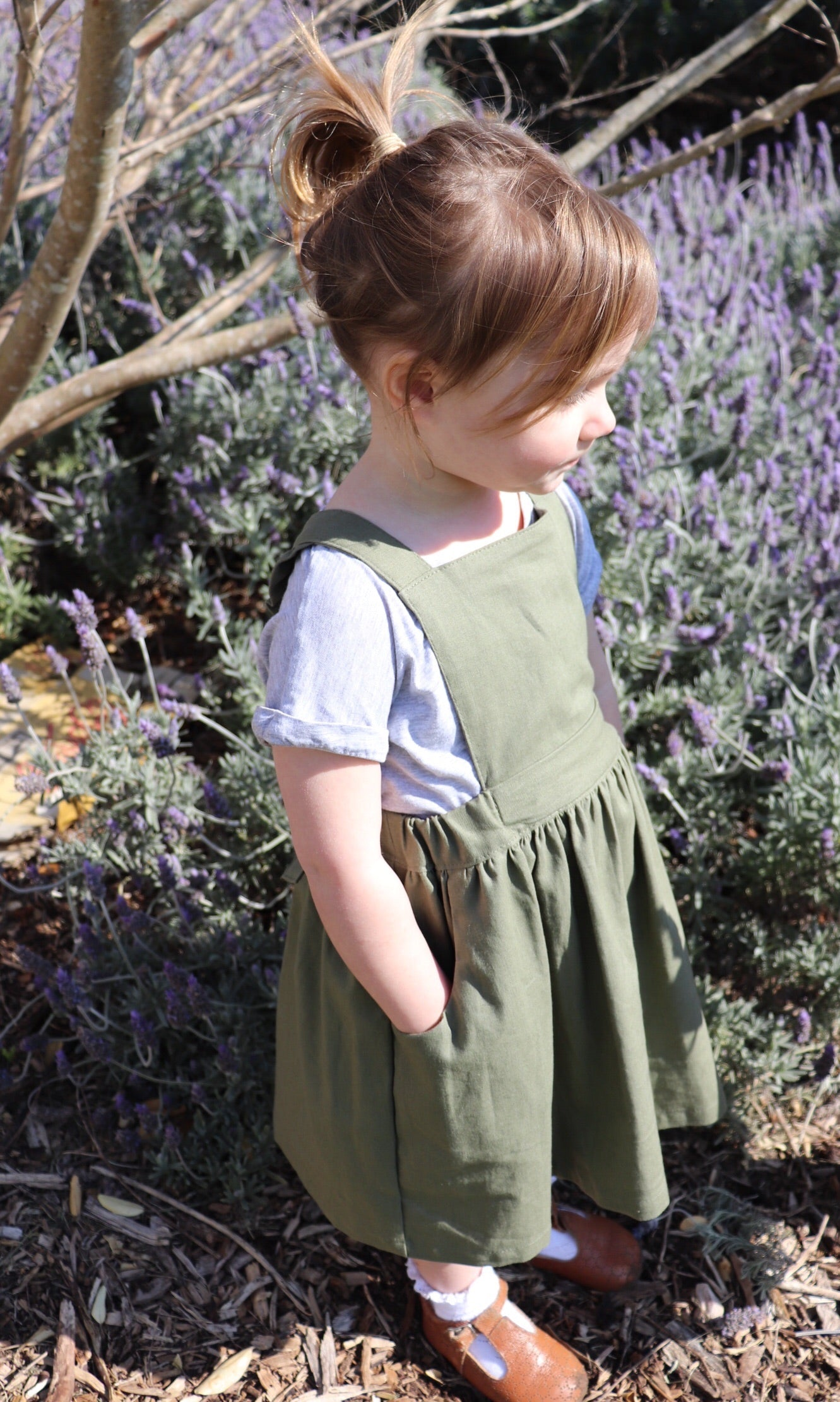 Poppy Pinafore OLIVE
