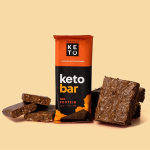 chocolate, nutty almond butter brownie keto bars