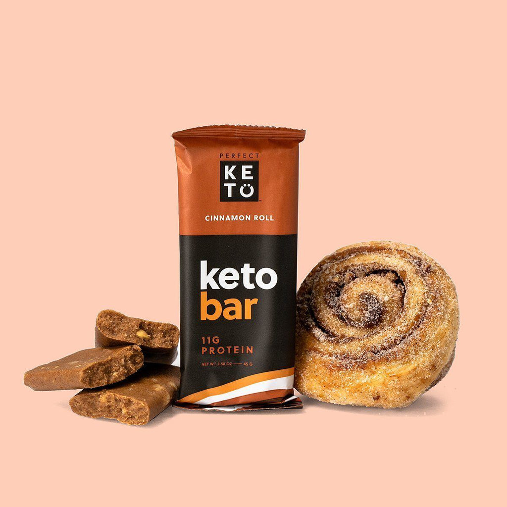 keto bars mixed with a cinnamon and nutty flavor