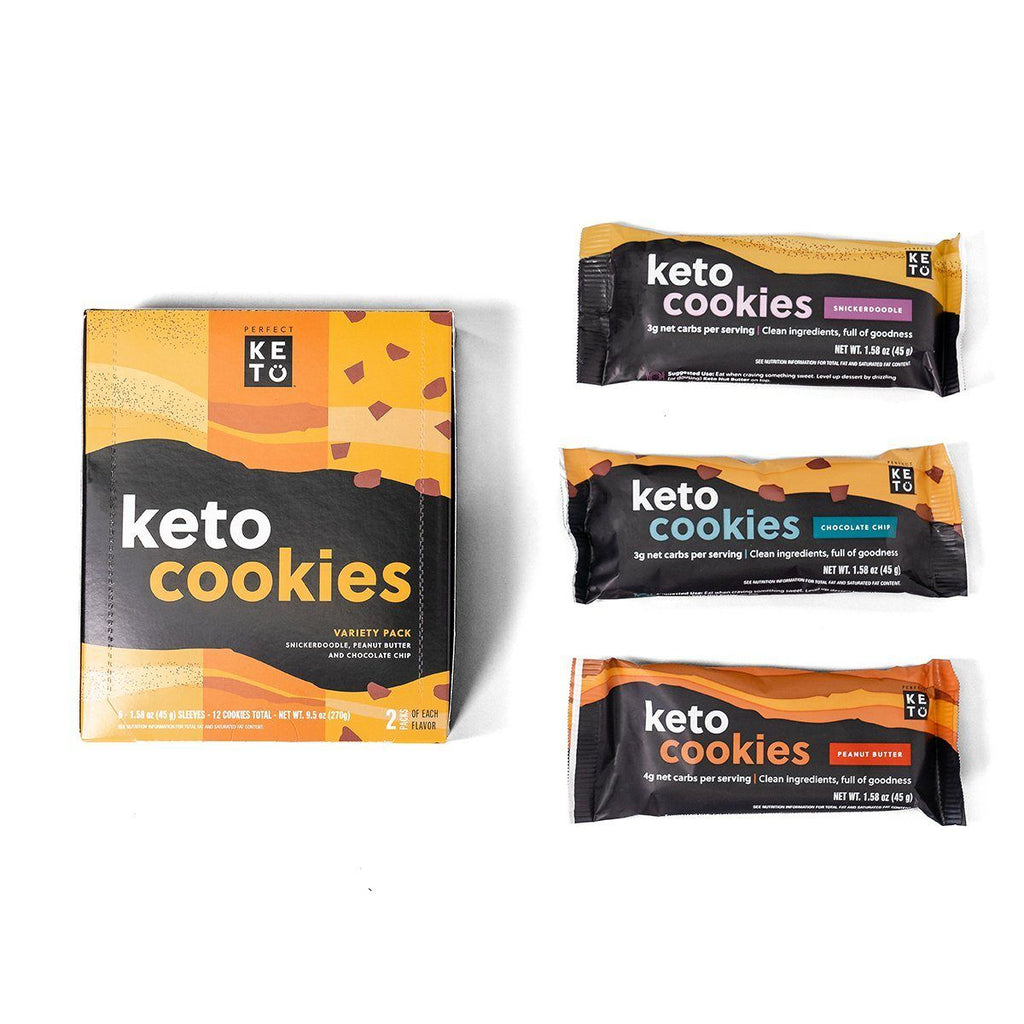 Keto Cookie Variety Pack, 6 Sleeves