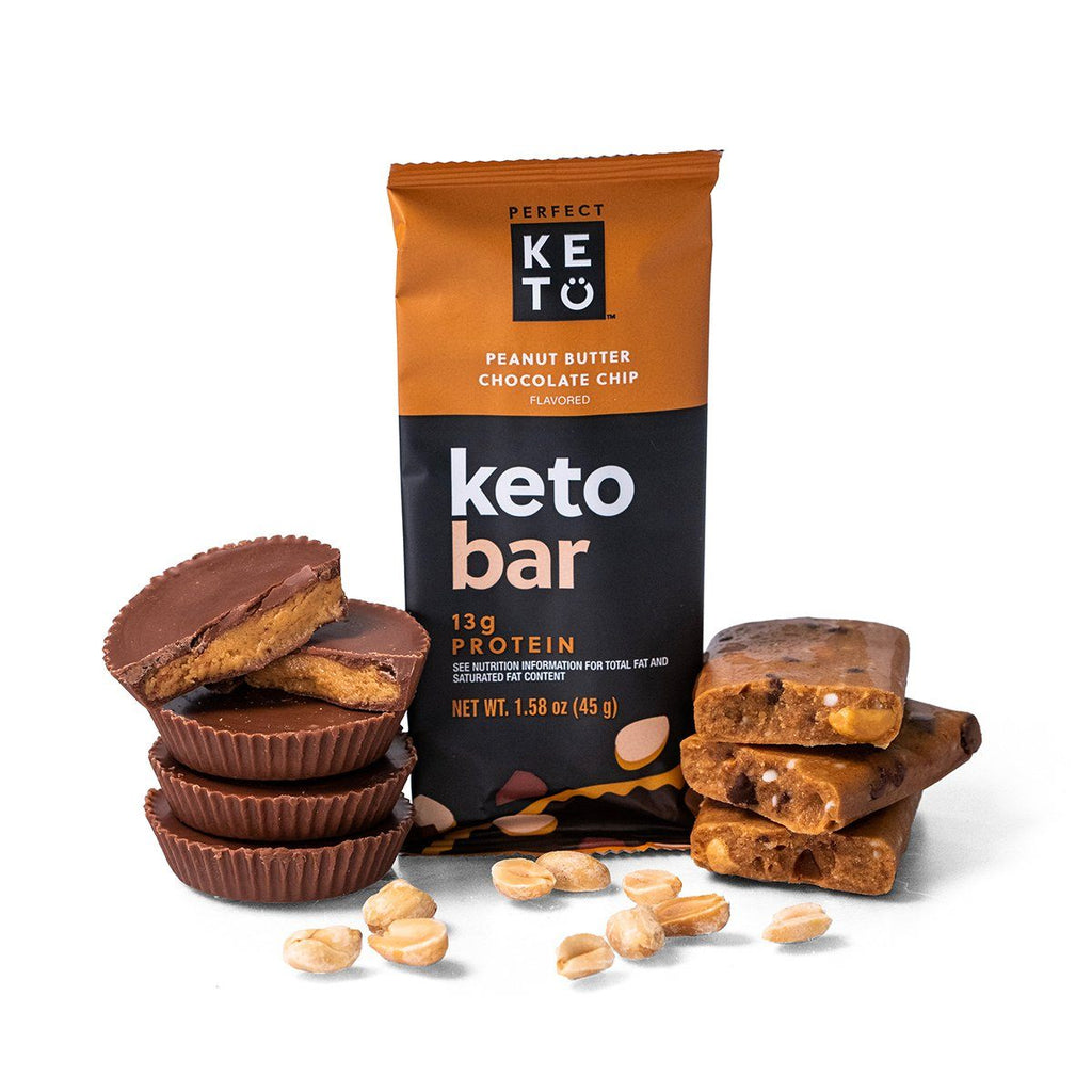 Keto Bars, 12 Bars - Peanut Butter Chocolate Chip
