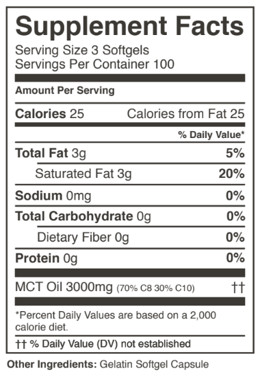 Perfect Keto MCT Oil Softgels (300 count)