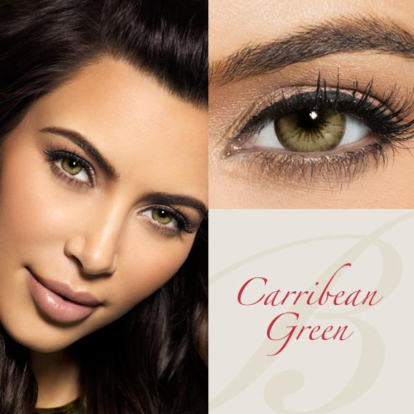 Bella Diamonds Caribbean Green Contact Lenses