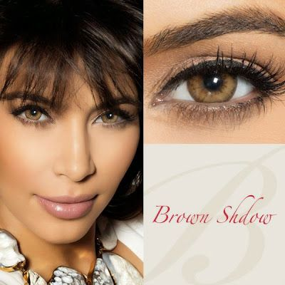 Bella Diamonds Brown Shadow Contact Lenses
