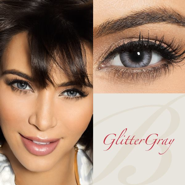 Bella Diamond Glitter Gray Contact Lenses