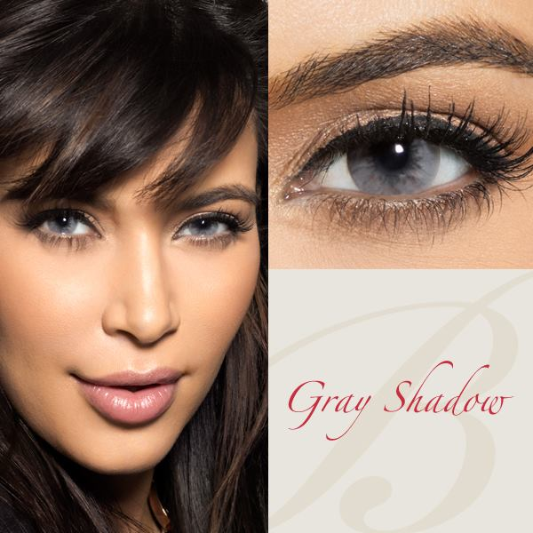 Bella Diamond Gray Shadow Contact Lenses