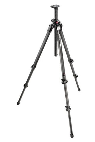 Manfrotto MT055CXPRO3 055 Carbon Fiber 3-Section Tripod with Horizontal Column + Calumet Padded Tripod Bag ...