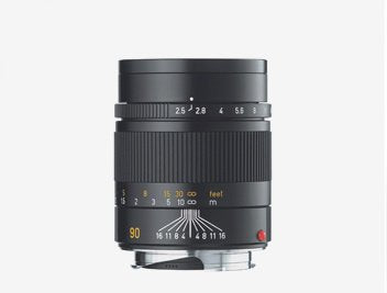 Leica 90mm f/2.5 SUMMARIT-M, Telephoto Manual Focus Lens for M System, Black - USA