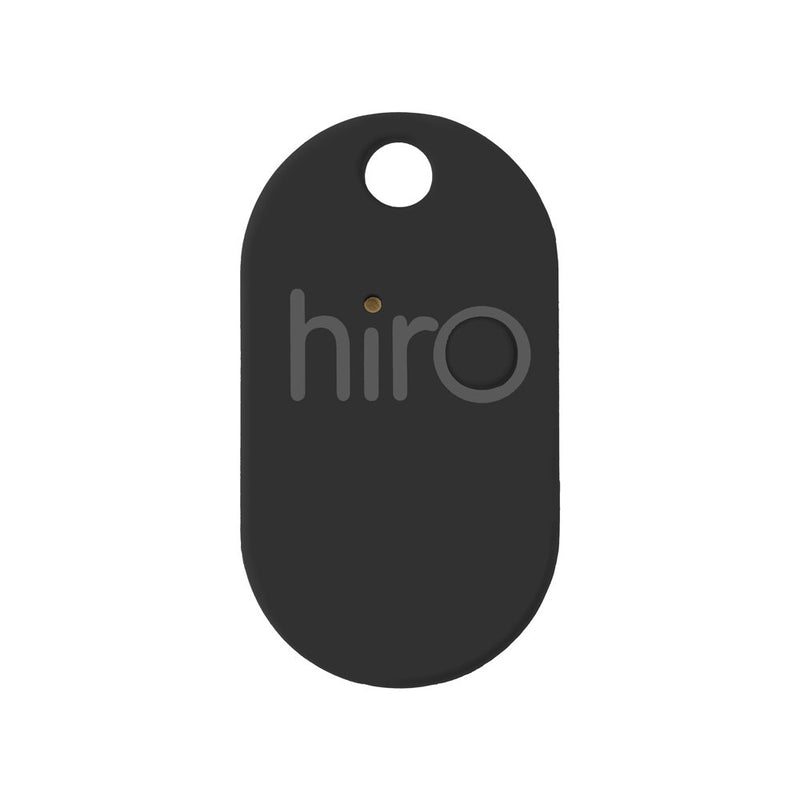 Hiro (v2.0) The Bluetooth Key Finder (Remote, Wallet, Phone Tracker): iOS & Android Compatible (Smartphone App Drops GPS Location on Map) with Rubber Matte Finish