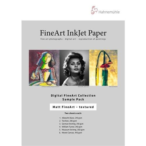 "Hahnemuhle Fine Art Inkjet Paper Sample Pack, 8.5x11"", 14 Sheets"