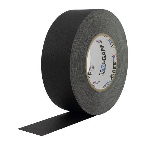 ProTapes Pro Gaff Matte Cloth Gaffer's Tape with Rubber Adhesive, 11 mil Thickness, 55 Yard Length