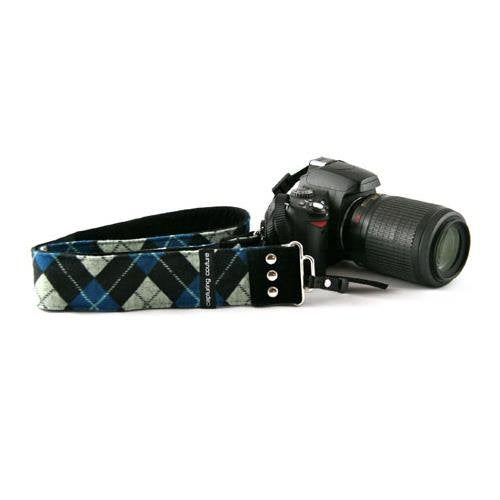 "Capturing Couture Camera Straps: Men's Collection, The Joey Blue 2"" SLR/DSLR Fashion Camera Strap"