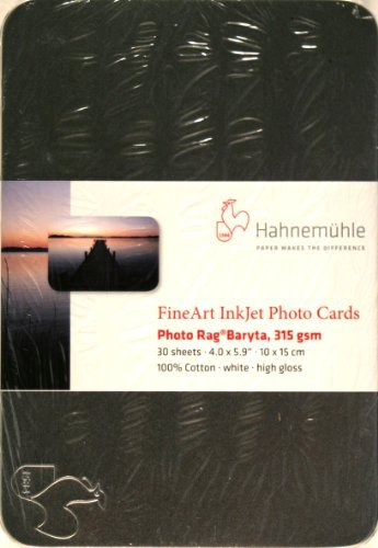 "Hahnemühle Photo Rag Baryta FineArt Photo Cards (4 x 6"", 30 Cards)"