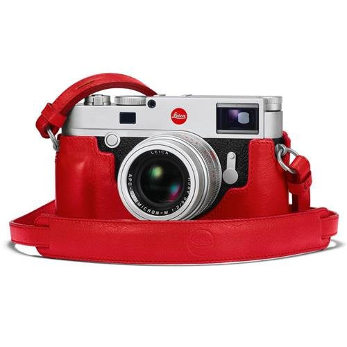Leica M10 Protector, Leather, Red