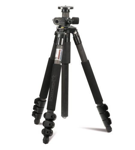 Giottos MTL8350B Professional 4-Section Carbon Tripod with Flip Leg Locks
