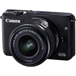 Canon EOS M10 Mirrorless Digital Camera with 15-45mm Lens (Black) - International Version (No Warranty)