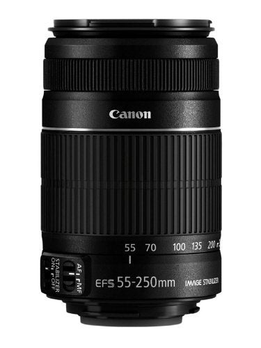 Canon EF-S 55-250mm f/4-5.6 IS Telephoto Zoom Lens for Canon EOS DSLR Cameras