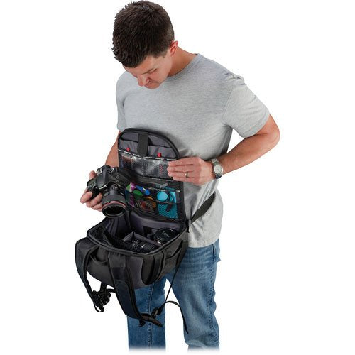 Tamrac 5729 Zuma 9 Secure Traveler Backpack (Black/Dark Gray)