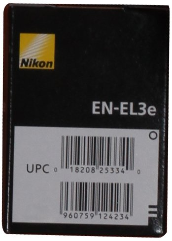 Nikon EN-EL3e Rechargeable Li-Ion Battery for D200, D300, D700 and D80 Digital SLR Cameras