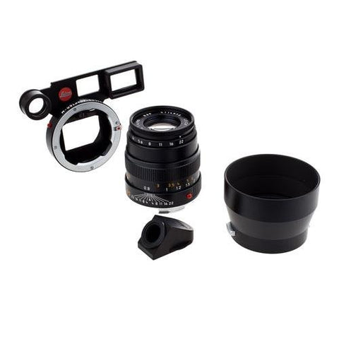Leica 90 mm/ f4 Macro-Elmar set w/Macro Adapter & Angle VF Black