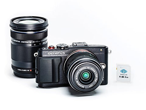 Olympus E-PL6 Two Lens Kit (Black) Color: Black Style: Two Lens Kit, Model: V205051BU040, Electronic Store & More