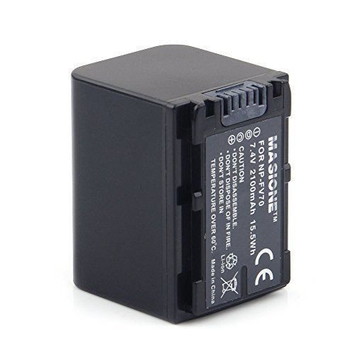 Masione NP-FV70 battery 7.4V 2100MAH, Replacement for SONY DCR-DVD, DCR-HC, DCR-SR, DCR-SX, HDR-CX, HDR-HC, HDR-SR, HDR-UX, HDR-XR Series Camcorder Battery