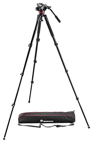 Manfrotto Professional Fluid Video System with Aluminum Legs and Mid Spreader