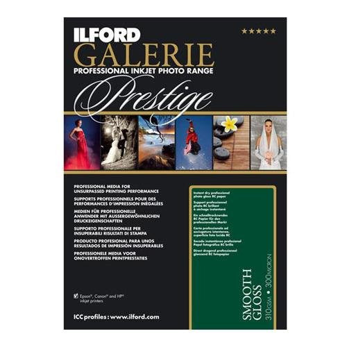 "Ilford GALERIE Smooth Gloss Inkjet Paper, 310 gsm, 8.5x11"", 25 Sheet Pack"