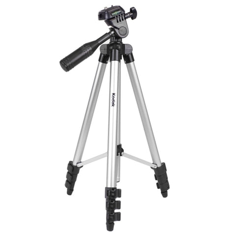 "Kodak 50"" TR501 Superior Control Camera Tripod, 3 Way Pan Head, Bubble Level"