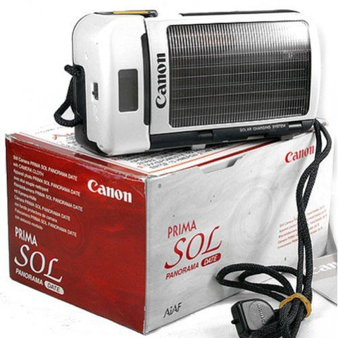 Canon Prima SOL 35mm Point & Shoot Solar Powered Compact Camera Panorama and Date