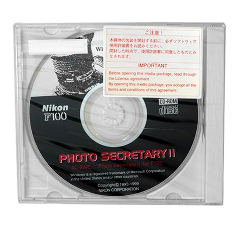 Nikon AC-2WE Photo Secretary II Software for F100