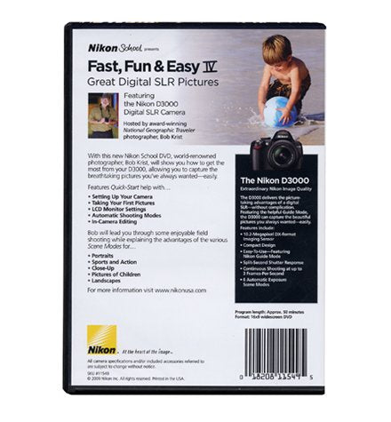 Nikon School DVD-Fast, Fun, & Easy IV Great Digital SLR Pictures for D3000 Camera
