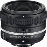 Nikon AF-S FX NIKKOR 50mm f/1.8G Special Edition Fixed Zoom Lens with Auto Focus for Nikon DSLR Cameras