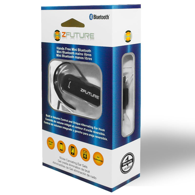 Zfuture Over The Ear Mini Bluetooth Headset With Swivel Hook And Volum