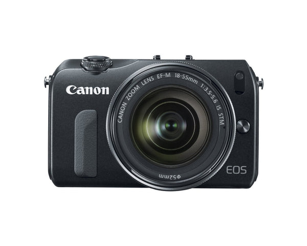Canon EOS M Mirrorless Digital Camera with 18-55mm Lens and Flash Kit (Black)