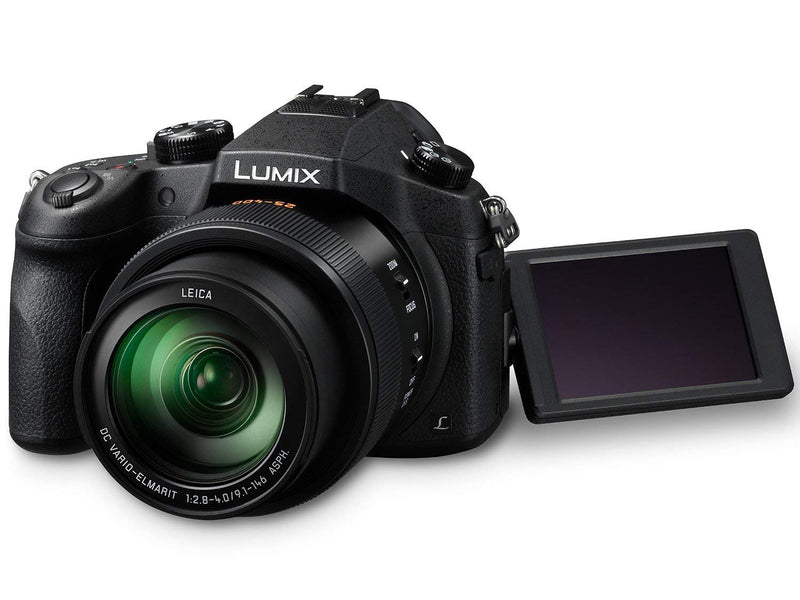 Panasonic LUMIX DMC-FZ1000 20.1MP 4K Point and Shoot Digital Camera w/16X Zoom Leica lens, Built-In Wi-Fi and NFC - Black