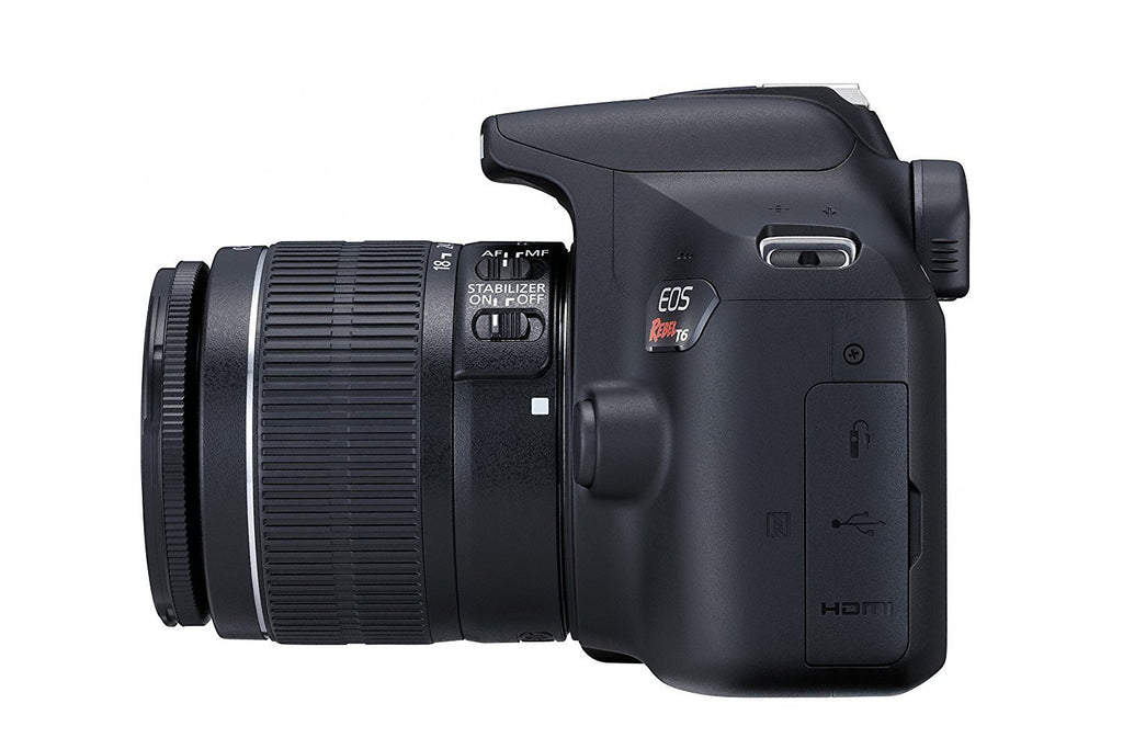 Canon Eos Rebel T6 Digital Slr Camera Kit With Ef S 18 55mm F 3 5 5 6 251 Off