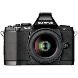 Olympus OM-D E-M5 Elite Mirrorless Micro Four Thirds Digital Camera with 14-42mm Lens and FL-LM2 Flash (Black)