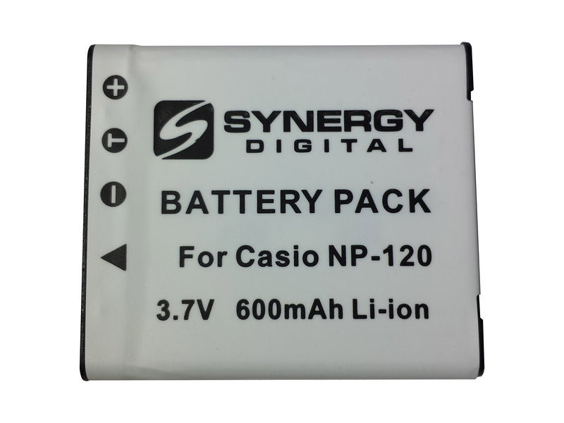 SDNP120 Lithium-Ion Rechargeable Battery - Ultra High Capacity (3.7V 600mAh) - Replacement For Casio NP-120 Battery