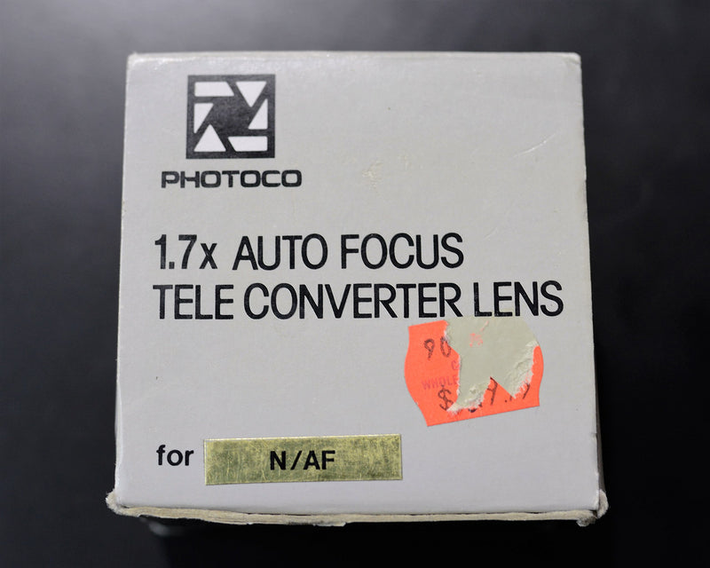 PhotoCO 1.7x Auto Focus Tele - Converter Lens for Nikon N/AF (ONLY for 35mm Film SLR Camera's Nikon Mount)