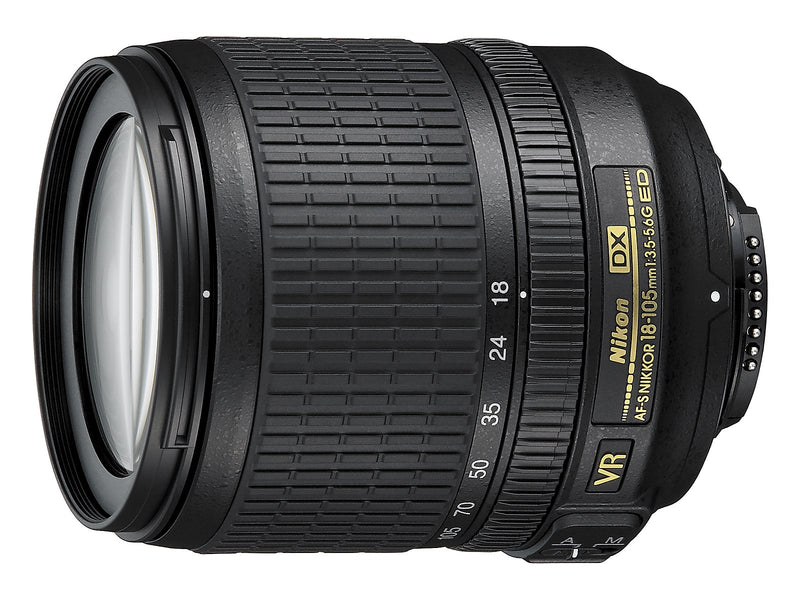 Nikon AF-S DX NIKKOR 18-105mm f/3.5-5.6G ED Vibration Reduction Zoom Lens with Auto Focus for Nikon DSLR Cameras -
