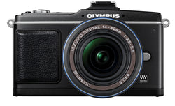 Olympus E-P2 12.3 MP Micro Four Thirds Interchangeable Lens Digital Camera with 14-42mm f/3.5-5.6 Zuiko Digital Zoom Lens (Electronic View Finder not included)