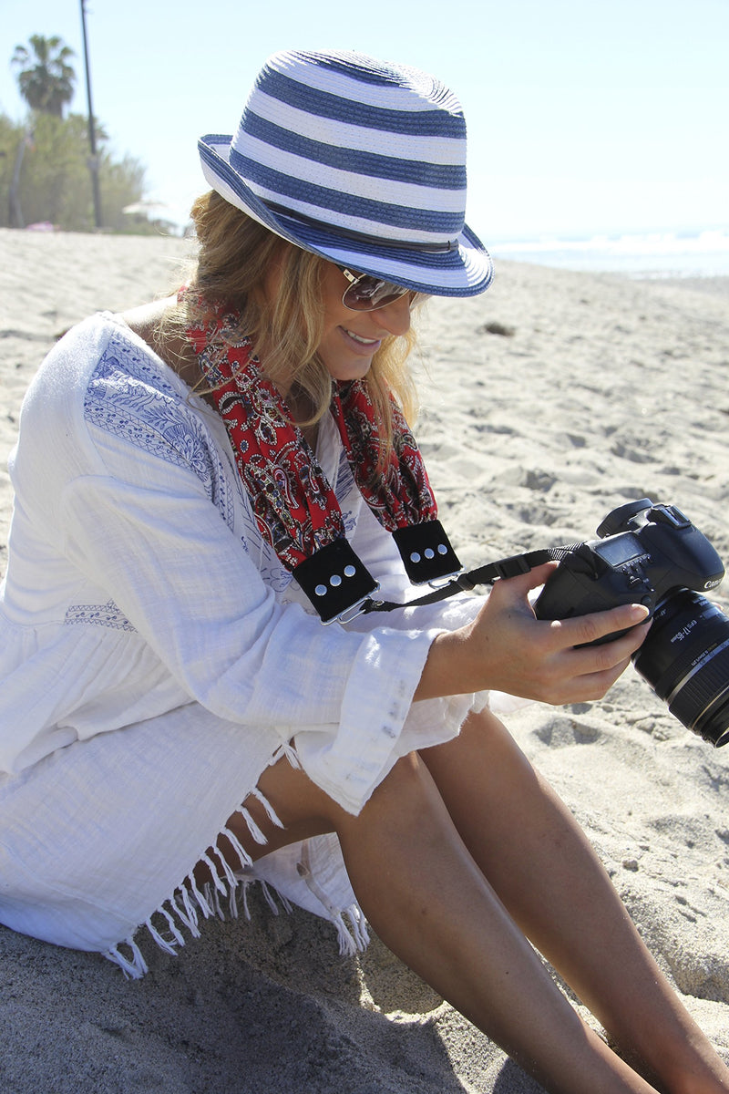 Liberty Scarf Camera Strap; NEW; Classic & Comfortable; On-Trend Style; Makes the Perfect gift for any photographer