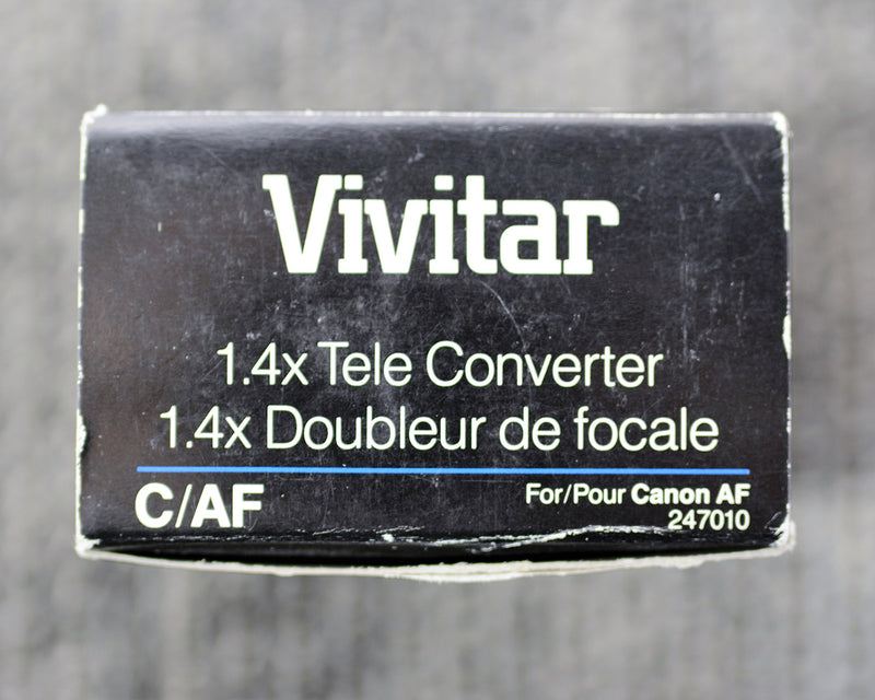 Vivitar 1.4x Tele - Converter C/AF for Canon AF (ONLY for 35mm Film SLR Camera's Canon Mount)
