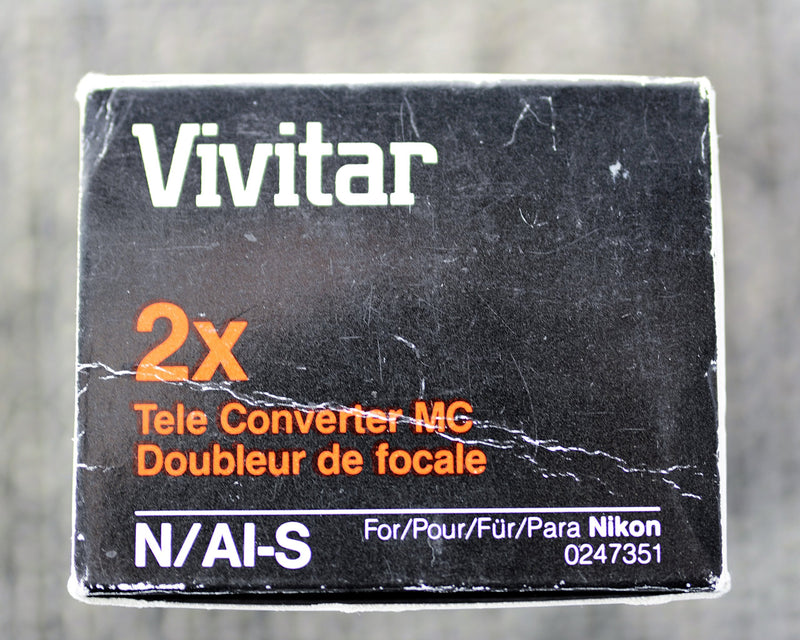 Vivitar 2x Tele - Converter N/AI-S for Nikon (ONLY for 35mm Film SLR Camera's Nikon Mount)