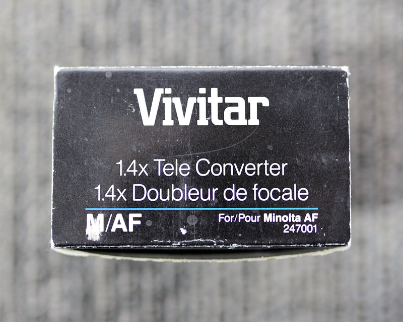 Vivitar 1.4x Tele - Converter M/AF for Minolta AF (ONLY for 35mm Film SLR Camera's Minolta Mount)