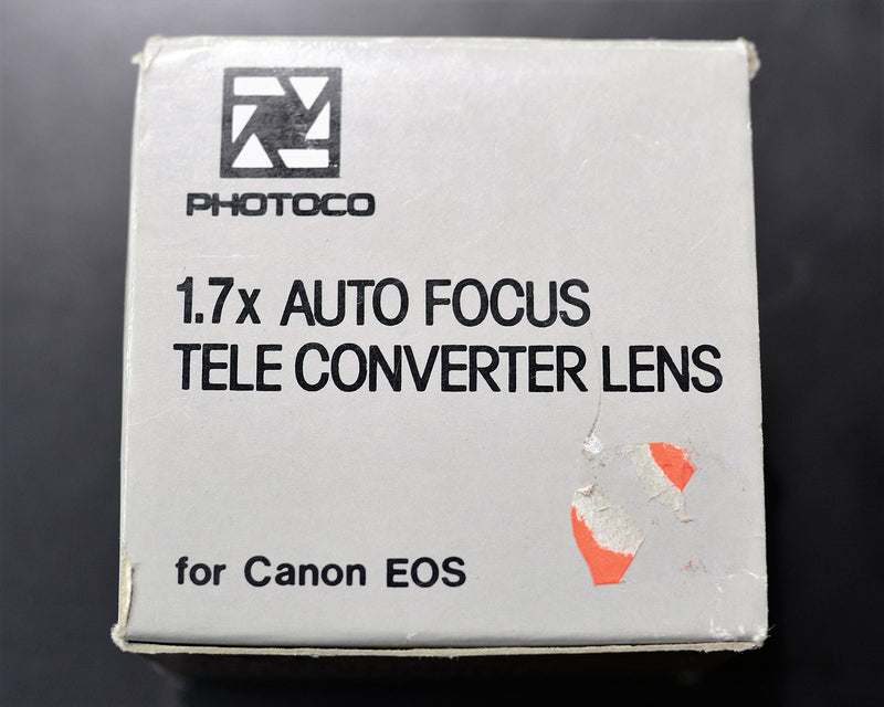 PhotoCO 1.7x Auto Focus Tele - Converter Lens for Canon EOS (ONLY for 35mm Film SLR Camera's Canon Mount)