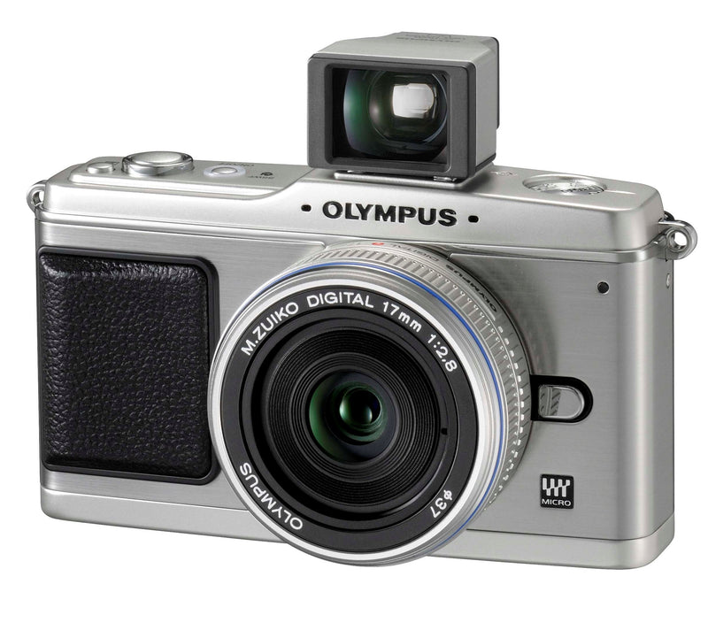 Olympus PEN E-P1 12.3 MP Micro Four Thirds Interchangeable Lens Digital Camera with 17mm f/2.8 Lens and Viewfinder (Silver)